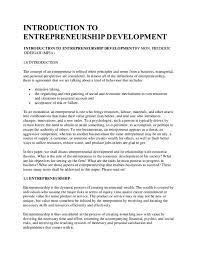 Introduction To Entrepreneurship Doc Introduction To Entrepreneurship Development