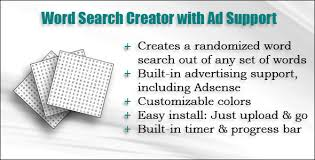 Word With Ad Word Search Creator With Ad Support By Ken85rose Codecanyon