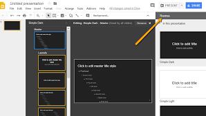 custom theme in google slides