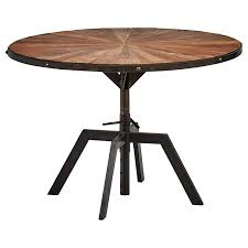 Amazoncom Rivet Rustic Round Industrial Dining Kitchen Table