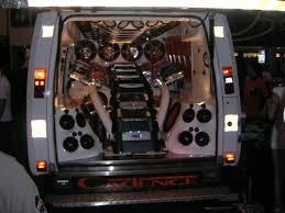 sound system car. large auto sound system car