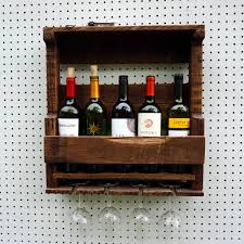 pallet wall wine rack. Rustic Wine Rack New Pallet Liquor Wall Mounted Made From