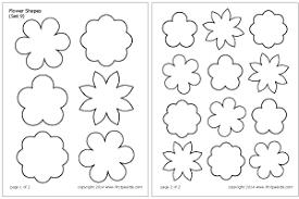 flower printable pictures. Wonderful Flower Flower Shapes Set 9 For Printable Pictures I
