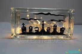lighted glass block diy craft