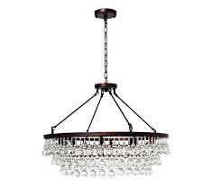 celeste glass drop crystal chandelier oil rubbed bronze light for decorations 12