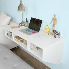 wall office desk. Amazon.com: Haotian Wall-mounted Table Desk,Home Office Desk Workstation,Floating With Storage,FWT14-W,White: Kitchen \u0026 Dining Wall