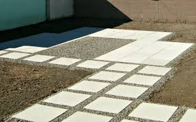 how to install 24 concrete pavers