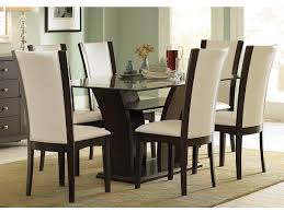furniture ture modern dining room decoration using square tapered chair legs including white leather and awesome round
