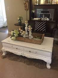 white chalk paint coffee table rustic