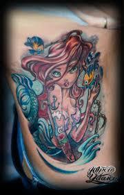 татуировка русалочка ариэль ньюскул Tattooartist Tattooist