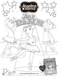 Small Picture Angelina Ballerina Free Coloring Page The Kids Fun Review