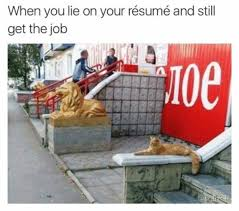 When You Lie On Your Resume Memes Awesome When You Lie On Your Resume