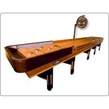 Wooden Puck Game Delectable Hudson Shuffleboards Grand 32' Shuffleboard Table Wayfair