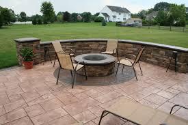modern concrete patio designs. Elegant Stamped Concrete Patio Designs With Fire Pit B38d In Nice Home Decorating Ideas Modern L