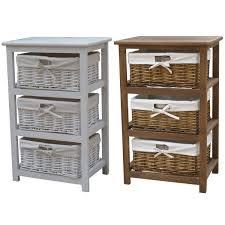 Wicker Basket Cabinet Cool Wooden Storage Cabinet With 3 Wicker Basket Jtrecords