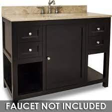 Large Bathroom Vanities Vanity 48 X 22 X 36 In Espresso With Brown Tan Top Jeffrey Alexander Van092 48 T