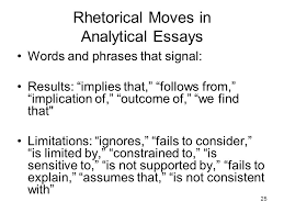 the analytical essay ppt video online rhetorical moves in analytical essays