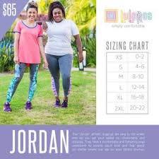 Lularoe Jordan Sizing Chart Lularoe Sizing Charts