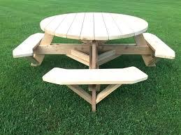 redwood patio table plans cedar round picnic top free eugene picni