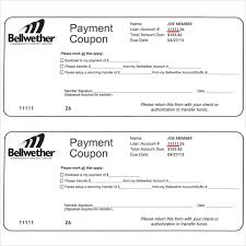 Payment Coupon Templates 11 Free Printable Pdf Documents