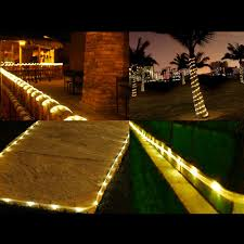 patio solar powered rope lights outdoor home depot string solar rope lights outdoor led lights