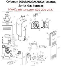 dgat070bdc coleman gas furnace parts hvacpartstore click here to view a manual for the dgat070bdc which includes wiring diagrams