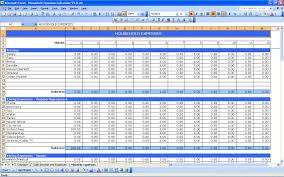 free finance spreadsheet household expenses excel templates