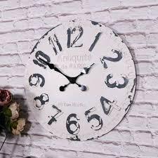 vintage wall clock large antique white retro clocks
