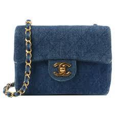 chanel vintage bag. chanel lee denim mini blue vintage shoulder bag
