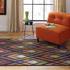 oriental weavers pantone universe prismatic rectangular orange blue area rug