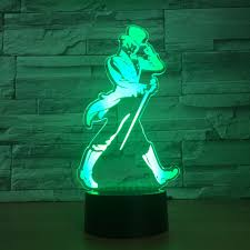 Us 11 94 40 Off Dancer Men Led 3d Night Light Rgb 7 Color Change Mood Lamp Bedroom Remote Touch Usb Table Lamp Kids Friends Family Best Gifts In Led