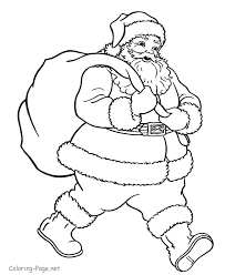 Small Picture Coloring Page Santa Claus Pages For Kids Printable To Print Online