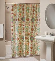 bohemian curtains shower