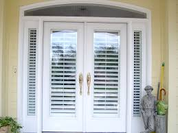 french doors with shutters. Our Plantation Shutters Look Great On These French Doors And Sidelight Windows. With
