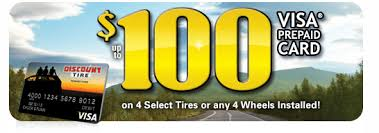 $100 off select cooper tires. Disocunt Tire 100 Visa Gift Card With Purchase Of Four Tires