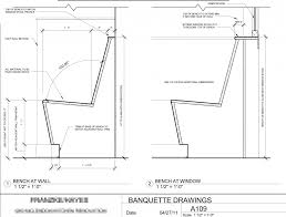 Banquette Seating Plans Kitchen Banquette Seating Plan Pictures Banquette Design