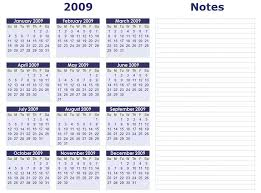 calendars with notes blank calendars yearly calendar forms and templates