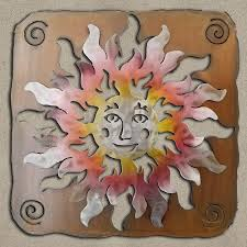 save 25 165373 27in happy face sun panel 3d southwest metal wall art sunset