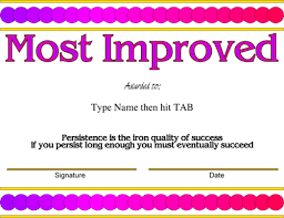 Most Improved Award Template - Dtk Templates