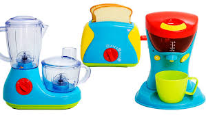 Coloured Kitchen Appliances Cooking Playset Just Like Home Kitchen Appliance Set Toaster