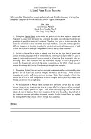 sample college admission animal farm essay prompts animal farm wikiquote