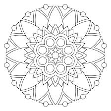 Flower Mandala Coloring Pages Free Printable Betterfor