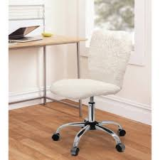 com fun and stylish faux fur task chair with adjule height lever white sherpa white sherpa office s