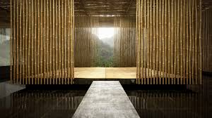 Modern Bamboo House Interior Design Bamboo Interior Designs Stunning Artistic Bamboo Wall