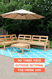 outdoor sectional. Contemporary Sectional Build This DIY Three Piece Outdoor Sectional For Under 100 The Entire  And Coffee Table Are Built Out Of Cedar Fence Pickets Intended Outdoor Sectional