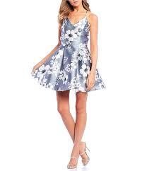 B Darlin Dress Size Chart B Darlin Sleeveless Lace Back Floral Print Fit Flare Dress