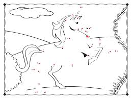 Unicorn Connect The Dots Coloring Page Free Fun Coloring Pages