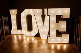Wedding Love Lights Light Up Letter For Hire Marquee Lights Letter Lights