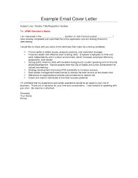 Writing An Email Cover Letter Sample Lv Crelegant Com