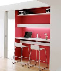 Office furniture contemporary design Open Plan Builtin Closet Computer Desk Design Contemporary Home Office Winrexxcom Home Office Contemporary Design Using Big Concepts For Small Spaces